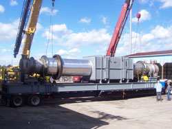 CVMR Carbolyn Reactor being delivered to the site