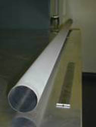 One of the ultra-pure nickel tubes made by CVMR® for the SNO Project